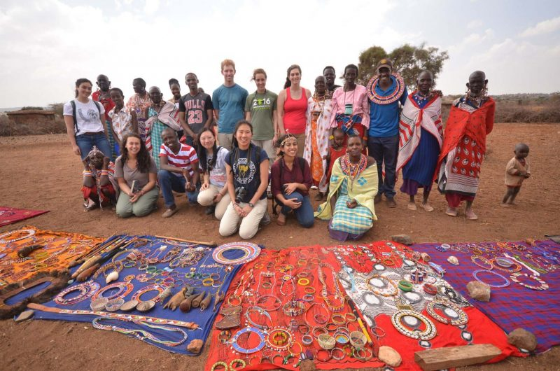 Princeton Students with masaai women