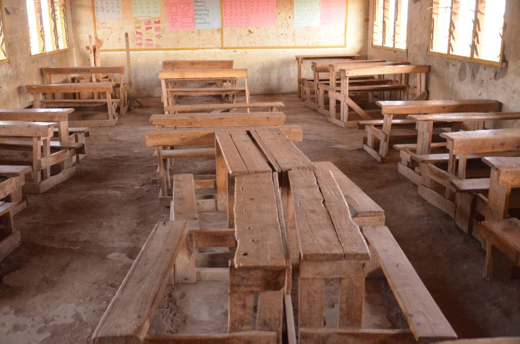 Photo of a classroom at Enkijape School in Amboseli, Kenya